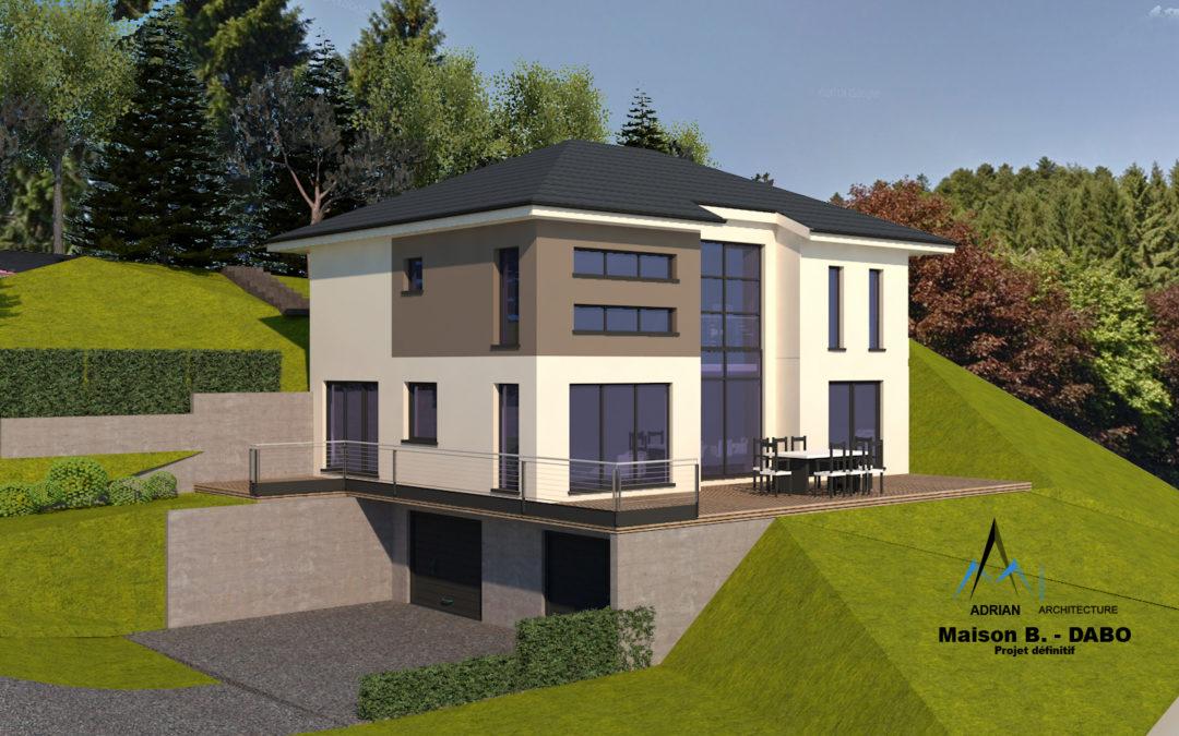 Plan de maison à Phalsbourg